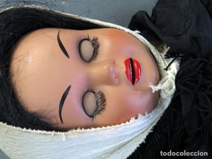 Muñeca Cayetana: Cayetana de Diana traje madrileña ojo flirty durmiente celuloide años 50 46 cm alto - Foto 19 - 181490691