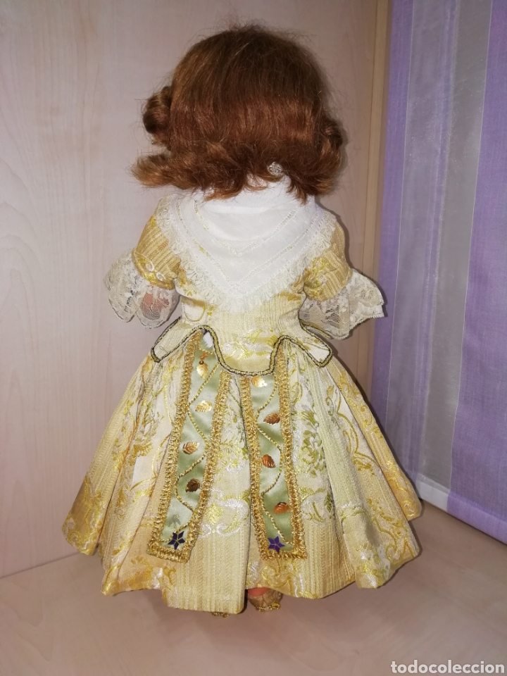 Muñeca Cayetana: Traje de fallera muñeca antigua - Foto 2 - 265483899