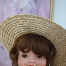 Boneca Cayetana: PRECIOSA CAYETANA, MUÑECA ESPAÑOLA, AÑOS 40, TODA DE CARTÓN PIEDRA. ISIDRO RICO MIRALLES, ANDADORA. Lote 225284930