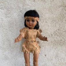 Muñeca Cayetana: CAYETANA INDIA DE DIANA CELULOIDE ORIGINAL AÑOS 50 OJOS DURMIENTES 45X17X10CMS. Lote 287315628