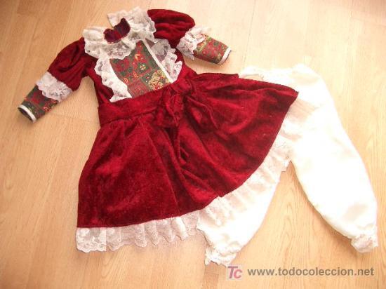 REPRODUCCIÓN DE VESTIDO ANTIGUO PARA MUÑECA (Juguetes - Reproducciones Vestidos y Accesorios Muñeca Española Clásica)