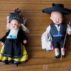Muñeca española clasica: PAREJA MUÑECOS DE CERAMICA .. CON TRAJES REGIONALES. Lote 13709721