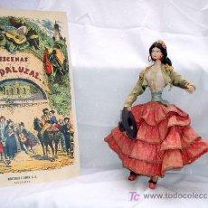 Poupée espagnole classique: MUÑECA LAYNA, FLAMENCA TYPICAL SPANISH AÑOS 40-50, CORDOBESA. Lote 15012845