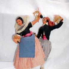 Muñeca española clasica: PAREJA DE MUÑECOS CON TRAJE REGIONAL, MARCA LAYNA AÑOS 40-50. Lote 13792656