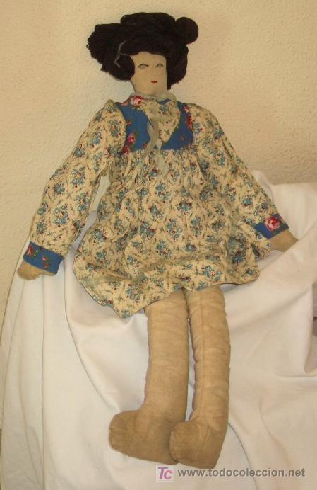 Muñeca española clasica: MUÑECA DE TRAPO,AÑOS 50 - Foto 2 - 26600785