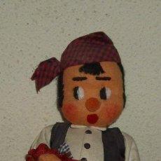 Muñeca española clasica: MUÑECO DE FIELTRO REGIONAL,AÑOS 50. Lote 19736022