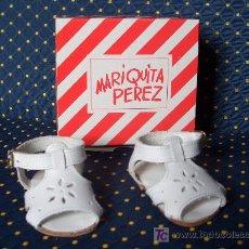 Muñeca española clasica: MARIQUITA PEREZ - SANDALIAS PIEL BLANCAS EN CAJA ORIGINAL A ESTRENAR - REF.: MP30011. Lote 34275501