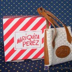 Muñeca española clasica: MARIQUITA PEREZ - BOLSO DE PIEL BICOLOR EN CAJA ORIGINAL A ESTRENAR - REF.:MP10025. Lote 27196487