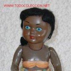 Muñeca española clasica: MUÑECA NEGRA DE CARTÓN,AÑOS 50,SANTIAGO MOLINA. Lote 24243134