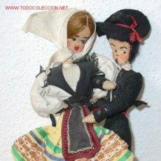 Muñeca española clasica: PAREJA DE MUÑECOS DE TRAPO,CON TRAJE REGIONAL,AÑOS 50. Lote 20513356