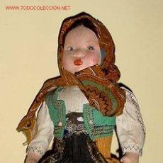 Muñeca española clasica: ANTIGUA MUÑECA DE LA CASA PAGES AÑOS 20 VESTIDA DE LAGARTERA . Lote 41004469