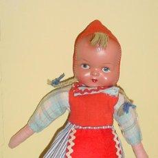 Muñeca española clasica: GRACIOSA MUÑECA ESPAÑOLA DE LOS AÑOS 40-50- CARA DE CELULOIDE CON OJO DECORADO . PELO DE LANA - CUE. Lote 42995420