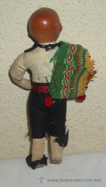 Muñeca española clasica: ANTIGUO MUÑECO DE TERRACOTA REGIONAL,AÑOS 20 Ó 30 - Foto 2 - 27408750