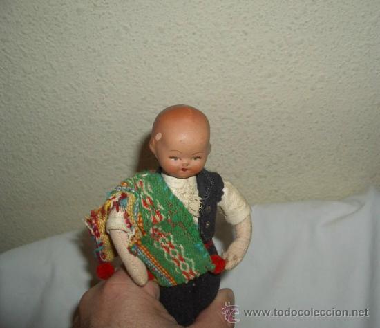 Muñeca española clasica: ANTIGUO MUÑECO DE TERRACOTA REGIONAL,AÑOS 20 Ó 30 - Foto 3 - 27408750