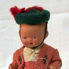 Muñeca española clasica: MUÑECO TERRACOTA CON TRAJE REGIONAL AÑOS 40 15 CM ALTO. Lote 12189907