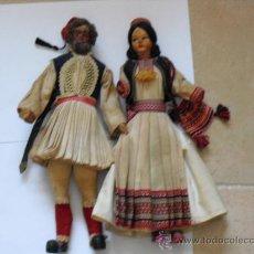 Muñeca española clasica: PAREJA DE MUÑECOS GRIEGOS. Lote 25735367