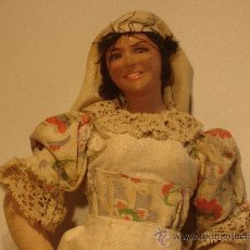 Muñeca española clasica: MUÑECA PAYESA CABEZA DE PORCELANA PRINCIPIOS DE S. XX. Lote 27429267