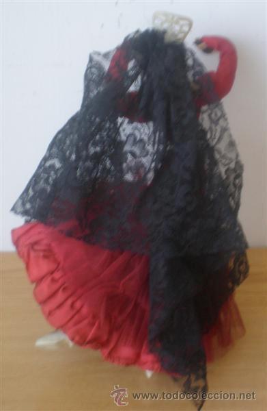 Muñeca española clasica: MUÑECA REGIONAL con mantilla .. Cuerpo rígido de trapo - Foto 2 - 15582977