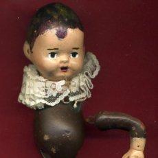 Bambola spagnola classica: MUÑECO , PARECE TERRACOTA , SOLO CABEZA Y UN BRAZO , 10 CENTIMETROS . Lote 20321026