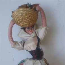 Muñeca española clasica: MUÑECA REGIONAL .. CUERPO RÍGIDO DE TRAPO . Lote 15907537