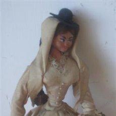 Muñeca española clasica: MUÑECA REGIONAL .. CUERPO RÍGIDO DE TRAPO . Lote 15907892