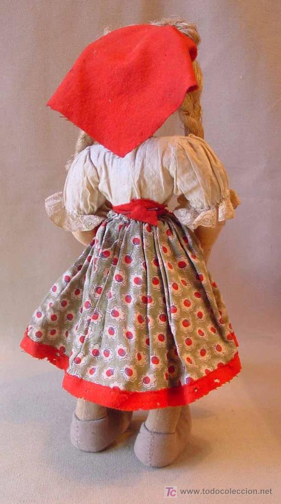 Muñeca española clasica: ARTESANAL MUÑECA, FIELTRO Y PAJA, MEDIDAS: 35 cm - Foto 5 - 18446039