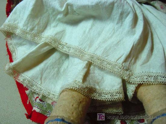 Muñeca española clasica: ARTESANAL MUÑECA, FIELTRO Y PAJA, MEDIDAS: 35 cm - Foto 2 - 18446039