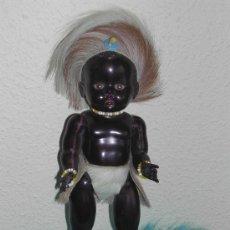 Muñeca española clasica: ANTIGUO MUÑECO NEGRITO DE CELULOIDE - COMPLETO Y MUY BIEN CONSERVADO - AÑOS 50.. Lote 26595910
