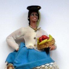 Muñeca española clasica: MUÑECA CON TRAJE TIPO DE CANARIAS (LAS PALMAS) - MUÑECAS MARIN (CHICLANA) - CON CAJA ORIGINAL. Lote 27221644