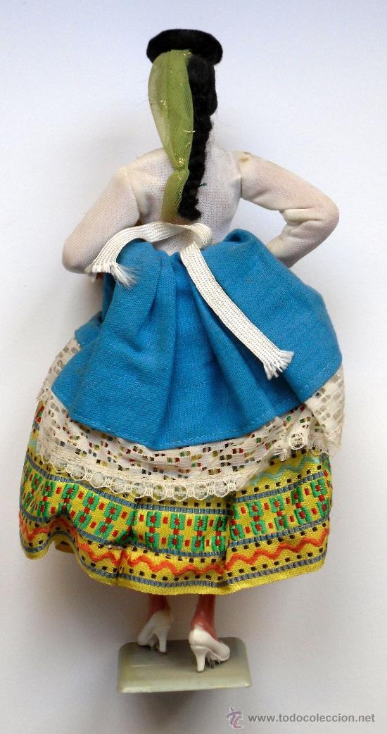 Muñeca española clasica: MUÑECA CON TRAJE TIPO DE CANARIAS (LAS PALMAS) - MUÑECAS MARIN (CHICLANA) - CON CAJA ORIGINAL - Foto 2 - 27221644