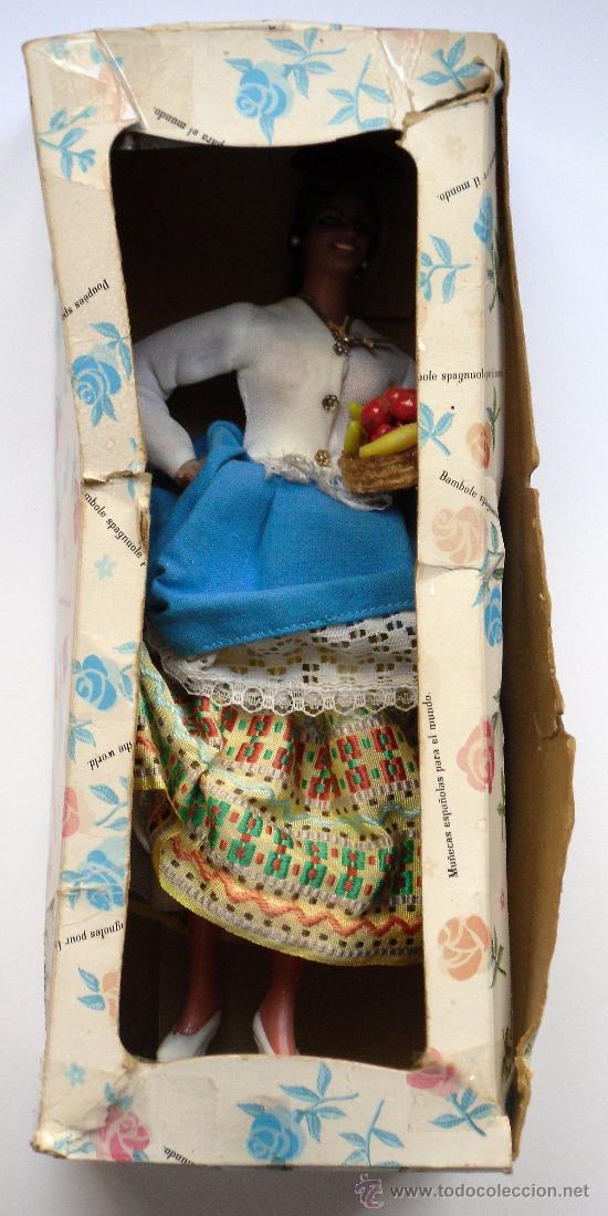 Muñeca española clasica: MUÑECA CON TRAJE TIPO DE CANARIAS (LAS PALMAS) - MUÑECAS MARIN (CHICLANA) - CON CAJA ORIGINAL - Foto 3 - 27221644