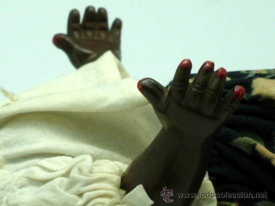 Muñeca española clasica: Muñeca negra celuloide ojo durmiente años 50 25 cm alto - Foto 3 - 20776084