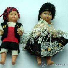 Klassische spanische Puppen - Pareja muñecos regionales celuloide años 50 60 - 20781026