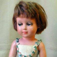 Muñeca española clasica: ANTIGUA MUÑECA CELULOIDE, LINDA CARLA, VESTIDO ORIGINAL, 44 CM, MARCA MUÑECAS DE ALBA, 1950S. Lote 194667050