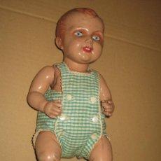 Muñeca española clasica: ANTIGUO MUÑECO - OJOS CRISTAL - CELULOIDE - AÑOS 40?. Lote 24428250