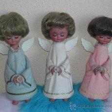Muñeca española clasica: LOTE 3 MUÑECAS ROSALINDA / LINDA PIRULA ANGEL - 3 COLORES DIFERENTES - AÑOS 60.. Lote 26164335