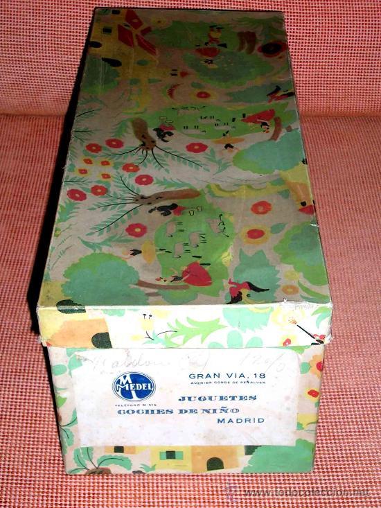 Muñeca española clasica: Precioso Bebé cabeza nº4, Juguetería Medel, Madrid, original años 30-40. Excelente estado y con caja - Foto 2 - 26340453