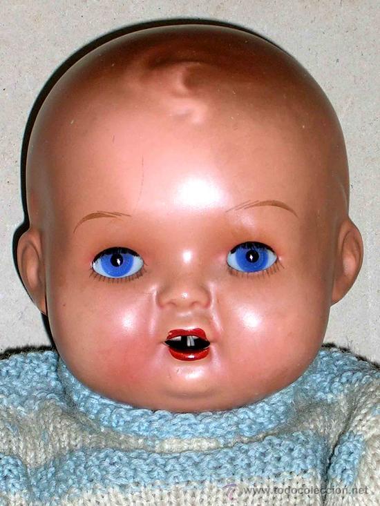 Muñeca española clasica: Precioso Bebé cabeza nº4, Juguetería Medel, Madrid, original años 30-40. Excelente estado y con caja - Foto 6 - 26340453