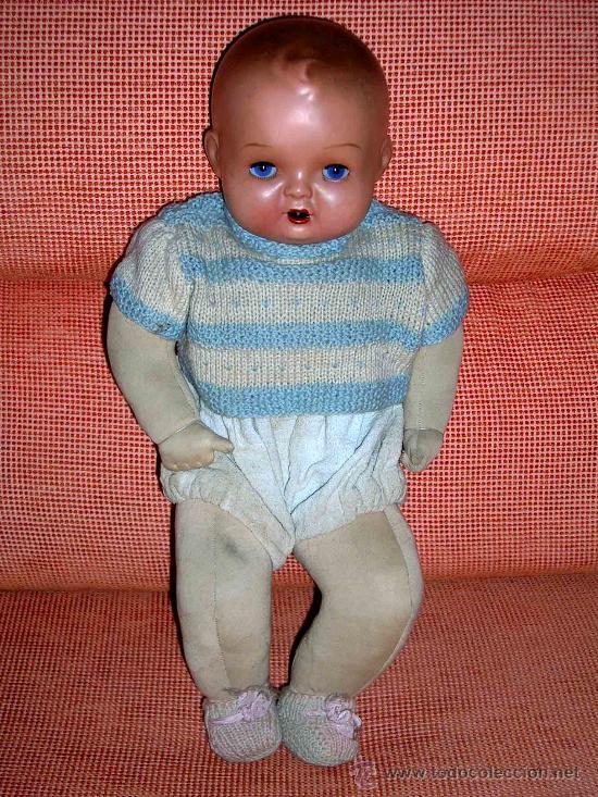 Muñeca española clasica: Precioso Bebé cabeza nº4, Juguetería Medel, Madrid, original años 30-40. Excelente estado y con caja - Foto 7 - 26340453