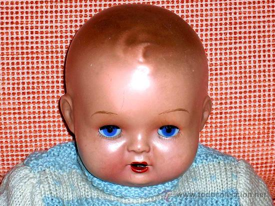 Muñeca española clasica: Precioso Bebé cabeza nº4, Juguetería Medel, Madrid, original años 30-40. Excelente estado y con caja - Foto 8 - 26340453