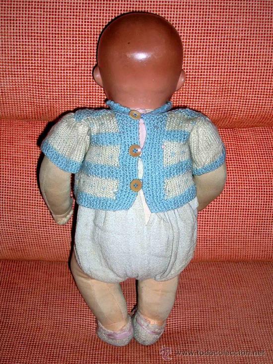 Muñeca española clasica: Precioso Bebé cabeza nº4, Juguetería Medel, Madrid, original años 30-40. Excelente estado y con caja - Foto 9 - 26340453