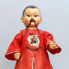 Muñeca española clasica: CHINO EL MANDARIN DE FLORIDO AÑOS 40 50 CARTÓN PIEDRA COLETA. Lote 30268926