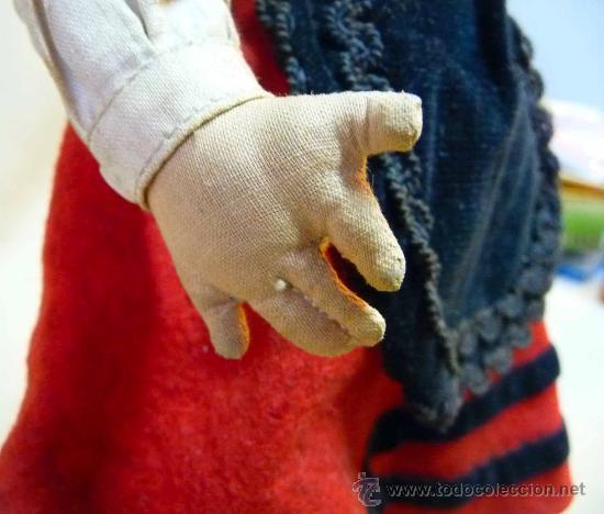 Muñeca española clasica: RARA MUÑECA REGIONAL, PAGES, 1940s, TODO ORIGINAL, PELO NATURAL, 35 CM, VESTIDO ORIGINAL - Foto 6 - 26367516
