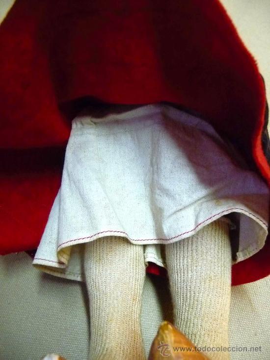Muñeca española clasica: RARA MUÑECA REGIONAL, PAGES, 1940s, TODO ORIGINAL, PELO NATURAL, 35 CM, VESTIDO ORIGINAL - Foto 12 - 26367516