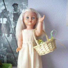 Muñeca española clasica: PRECIOSA MUÑECA ANTIGUA AÑOS 50-60 DE JESMAR, RUBIA OJOS AZULES MARGARITA VER FOTOS! REGALO VESTIDO. Lote 28244029