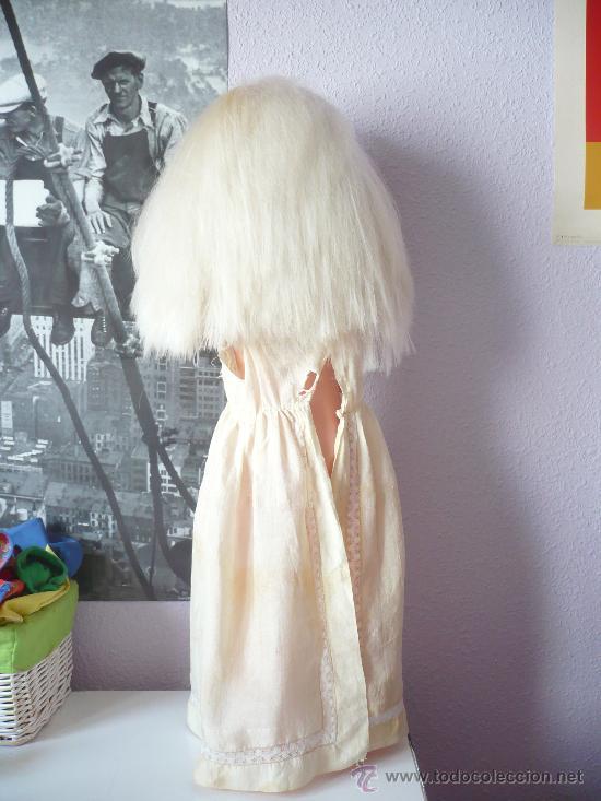 Muñeca española clasica: PRECIOSA MUÑECA ANTIGUA AÑOS 50-60 DE JESMAR, rubia ojos azules margarita VER FOTOS! regalo vestido - Foto 3 - 28244029