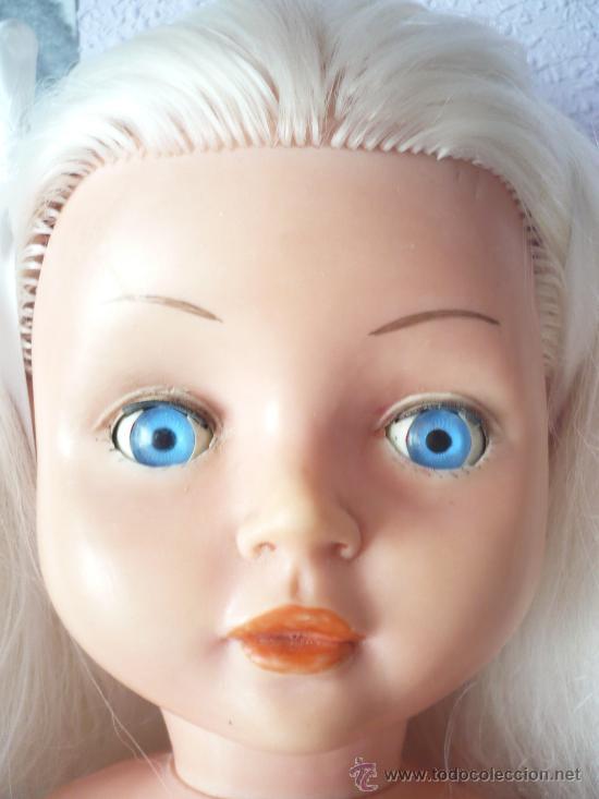 Muñeca española clasica: PRECIOSA MUÑECA ANTIGUA AÑOS 50-60 DE JESMAR, rubia ojos azules margarita VER FOTOS! regalo vestido - Foto 5 - 28244029