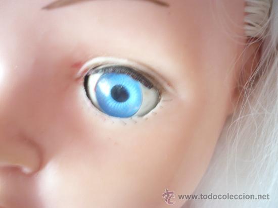 Muñeca española clasica: PRECIOSA MUÑECA ANTIGUA AÑOS 50-60 DE JESMAR, rubia ojos azules margarita VER FOTOS! regalo vestido - Foto 6 - 28244029