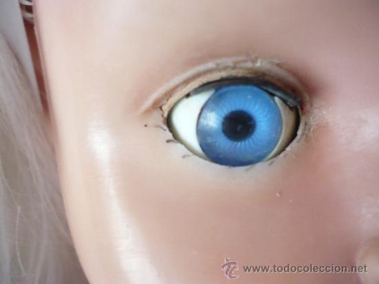 Muñeca española clasica: PRECIOSA MUÑECA ANTIGUA AÑOS 50-60 DE JESMAR, rubia ojos azules margarita VER FOTOS! regalo vestido - Foto 7 - 28244029