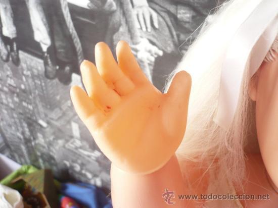 Muñeca española clasica: PRECIOSA MUÑECA ANTIGUA AÑOS 50-60 DE JESMAR, rubia ojos azules margarita VER FOTOS! regalo vestido - Foto 12 - 28244029